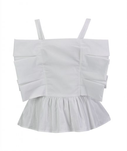 Misses White Bow Top Still 1